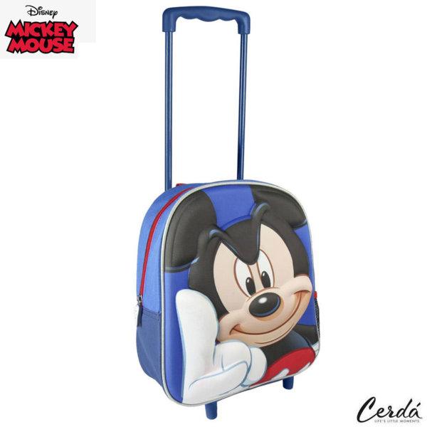 Disney Mickey Mouse Раница за детска градина 3D тролей Мики Маус 2100002282