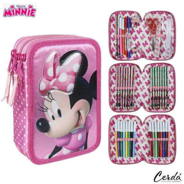 Disney Minnie Mouse Ученически несесер с 3 ципа, зареден Мини Маус 2700000233