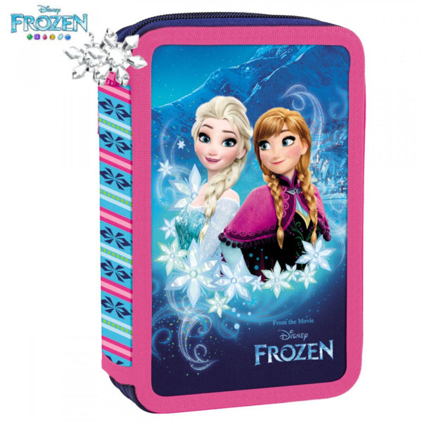 Disney Frozen Ученически несесер с два ципа, зареден Замръзналото кралство 66520