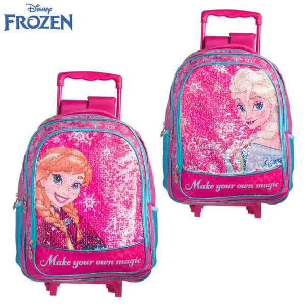 Disney Frozen - Ученическа раница с пайети променящи дизайна тролей Замръзналото кралство 718204