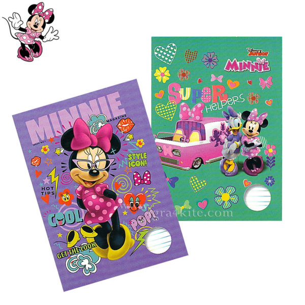 Disney Minnie Mause Тетрадка A5 комплект 5 броя Мини Маус 3182