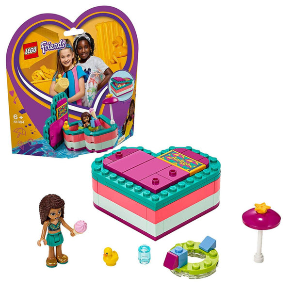 Lego 41384 Friends Лятната кутия с форма на сърце на Андреа