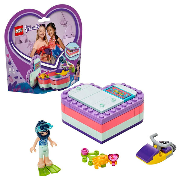 Lego 41385 Friends Лятната кутия с форма на сърце на Ема