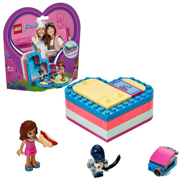 Lego 41387 Friends Лятната кутия с форма на сърце на Оливия