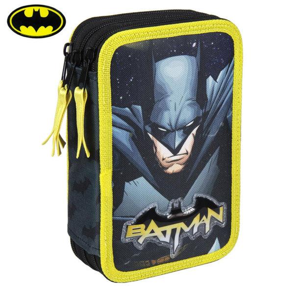 Batman Ученически несесер с 3 ципа, зареден Батман 2100002493
