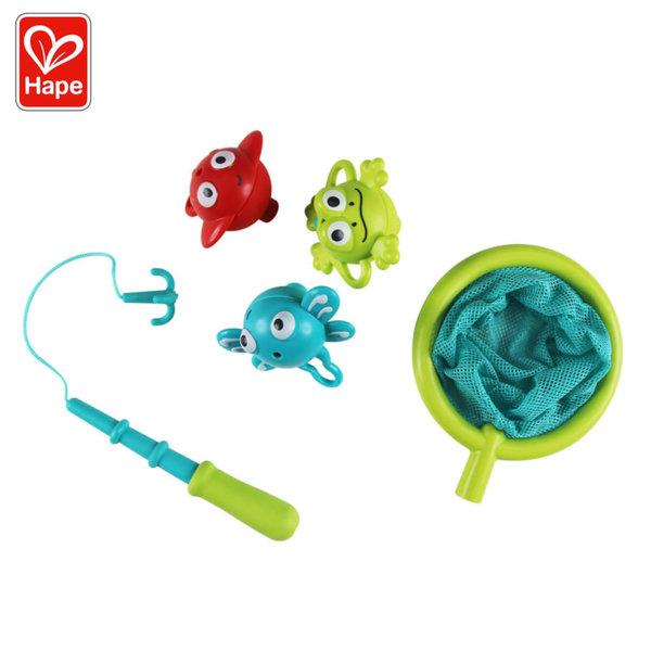 Hape Играчка за баня Риболов с кепче и три животни H0214