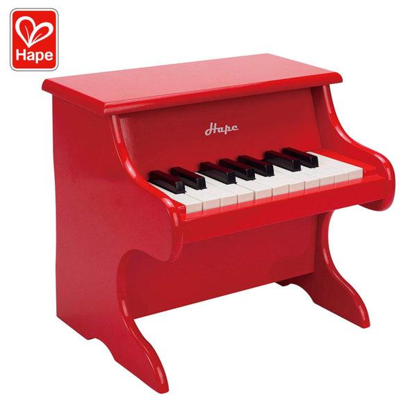 Hape Детско дървено пиано Червено H0318