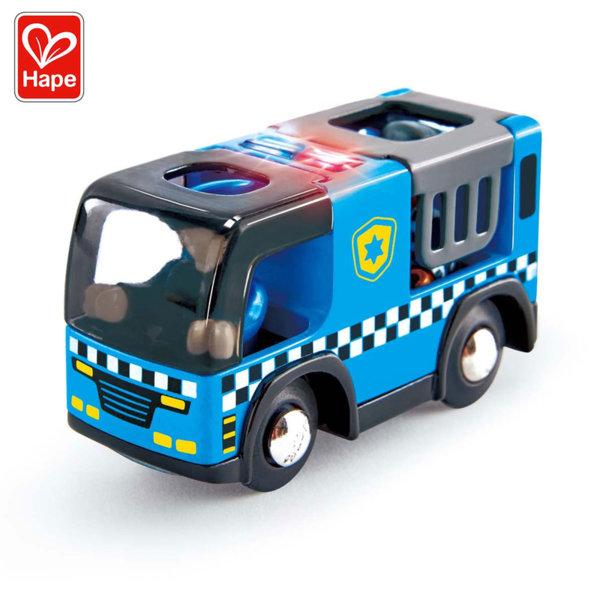 Hape Дървена полицейска кола със звук и светлина H3738