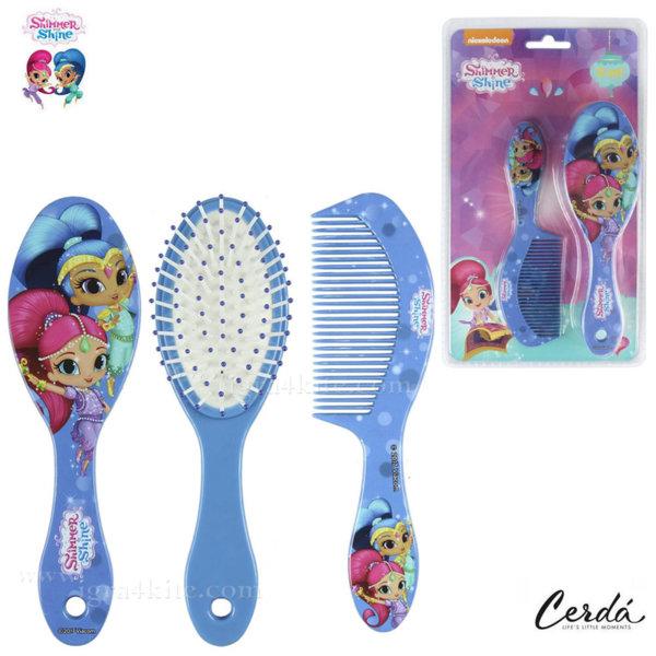 Shimmer and Shine Комплект четка за коса и гребен в лилаво 2500000978-1