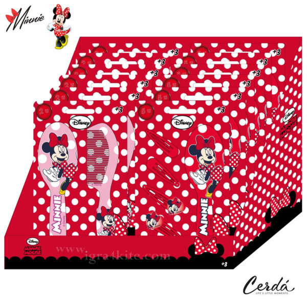 Disney Minnie Mouse Комплект четка за коса и шноли 2500000977-2