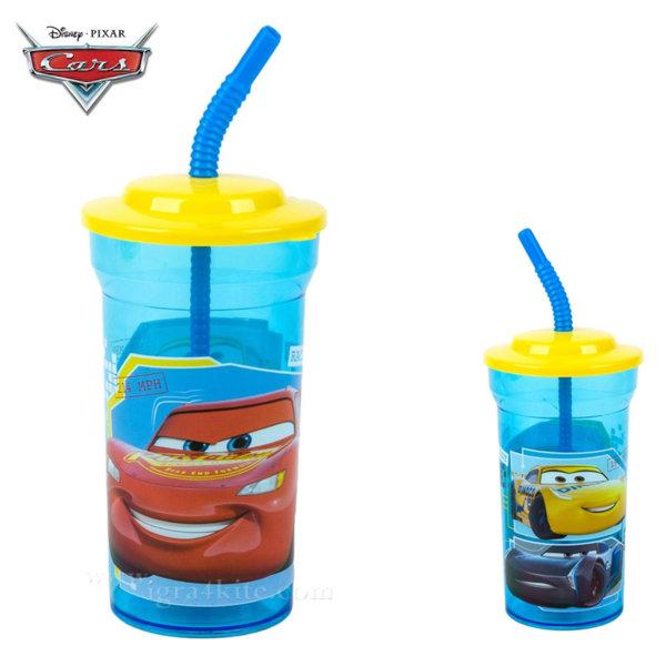 Disney Cars Детска чаша със сламка Колите 31145