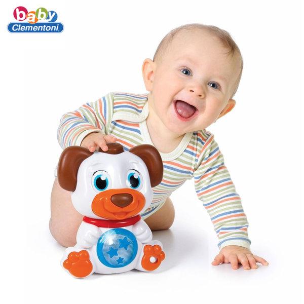 Clementoni Baby Кученце с въртящи се очи, звук и светлина 17239