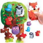 Headu Моят първи пъзел В гората с 5 дървени животинки Монтесори 20133