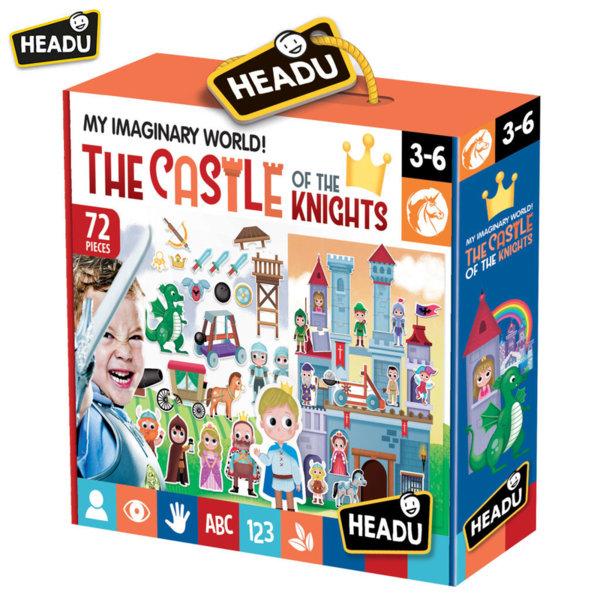 Headu Детски пъзел Замъкът на рицарите с фигури 72 части 20904