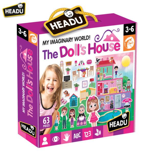 Headu Детски пъзел Къщата на куклите с фигури 72 части 20911