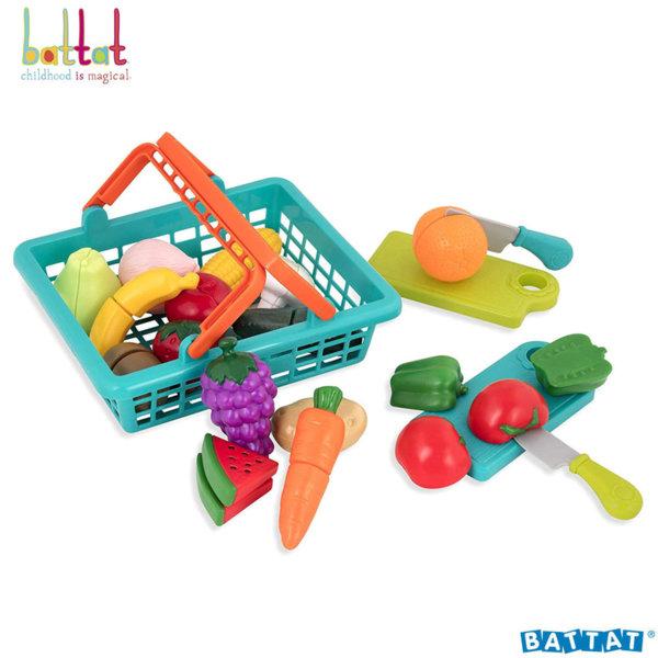Battat Toys Пазарска кошница с плодове и зеленчуци BT2534Z