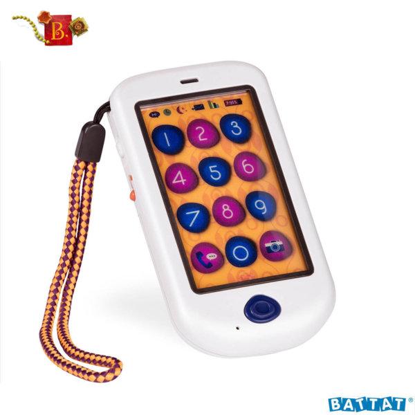 B. Toys Детски музикален телефон перлено бял BX1696Z