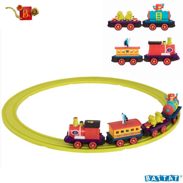 B. Toys Разноцветен музикален влак BX1742Z