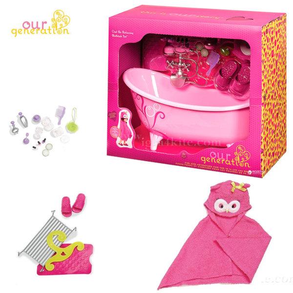 Our Generation Комплект за кукли Баня 37035