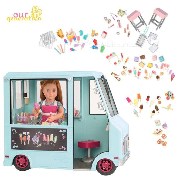 Our Generation Камион за сладолед за кукли 37252