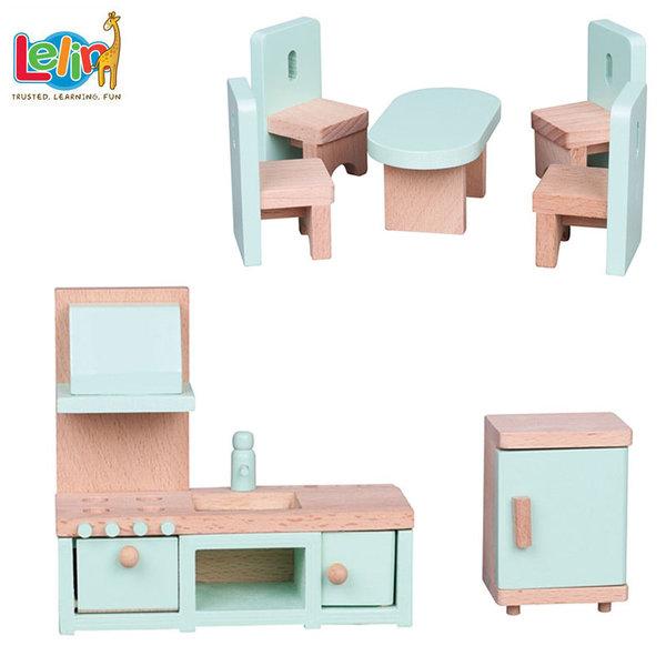 Lelin Toys Мебели за куклена къща Кухня 50125