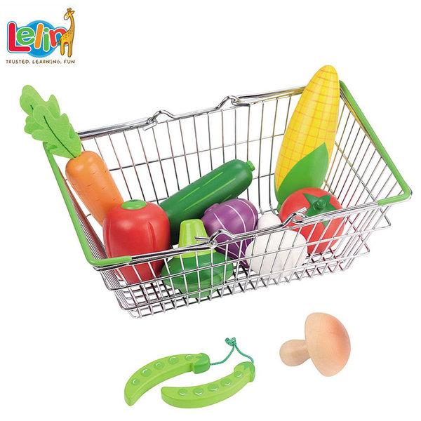 Lelin Toys Пазарска кошница със зеленчуци 40185