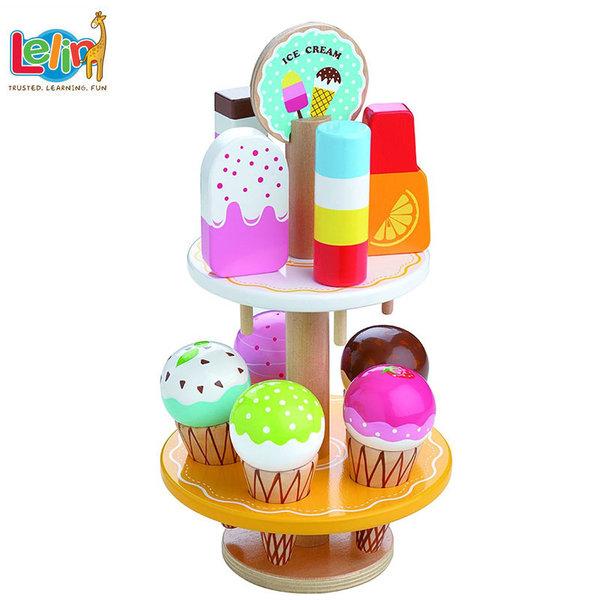 Lelin Toys Дървена поставка за сладолед 40180