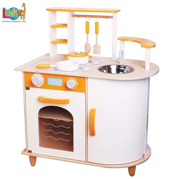Lelin Toys Детска дървена кухня Алисия 40065