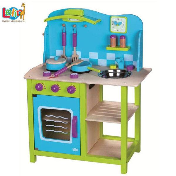 Lelin Toys Детска дървена кухня Морски бриз 40019