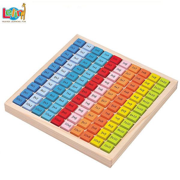 Lelin Toys Дървена таблица за умножение 10279