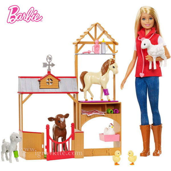 Barbie Барби ветеринарка във фермата GCK86