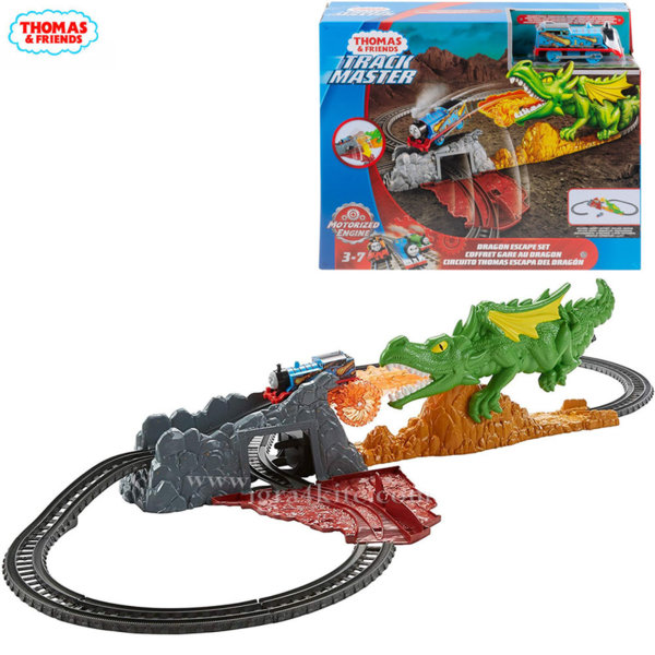 Fisher Price Thomas & Friends Влакчето Томас Трасе Избягай от дракона FXX66