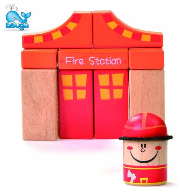 Beluga Детска дървена пожарна станция 50101