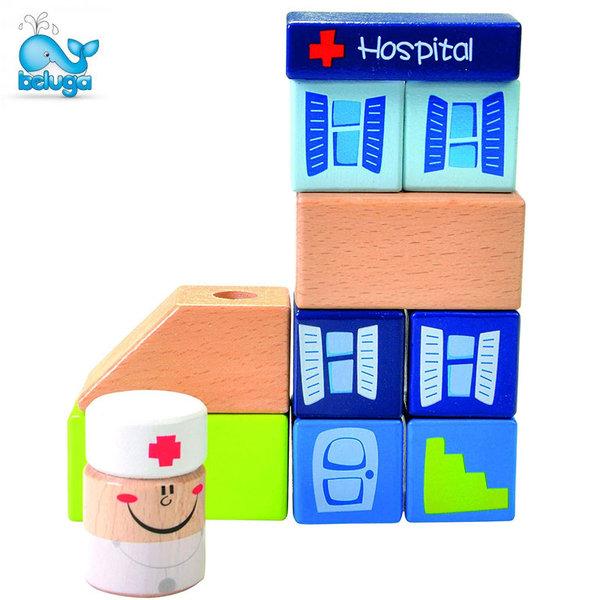 Beluga Детски дървен комплект Болница 50105