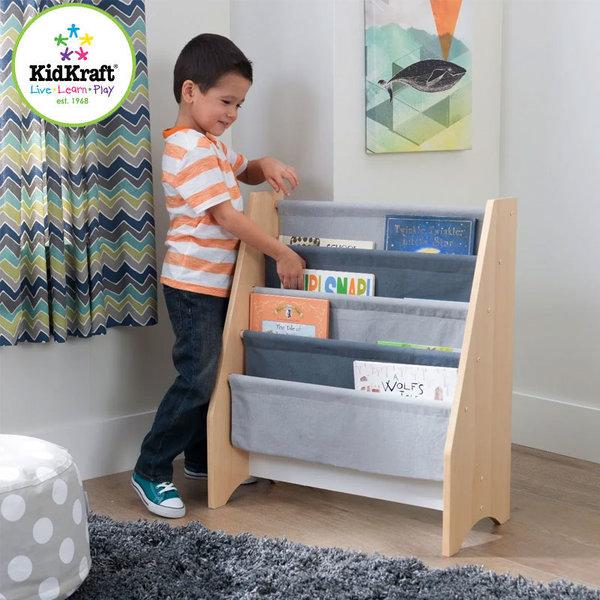 KidKraft Детска библиотека от дърво и текстил 10040