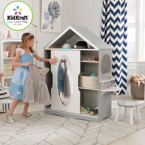 KidKraft Детски гардероб с тоалетка и столче 13040