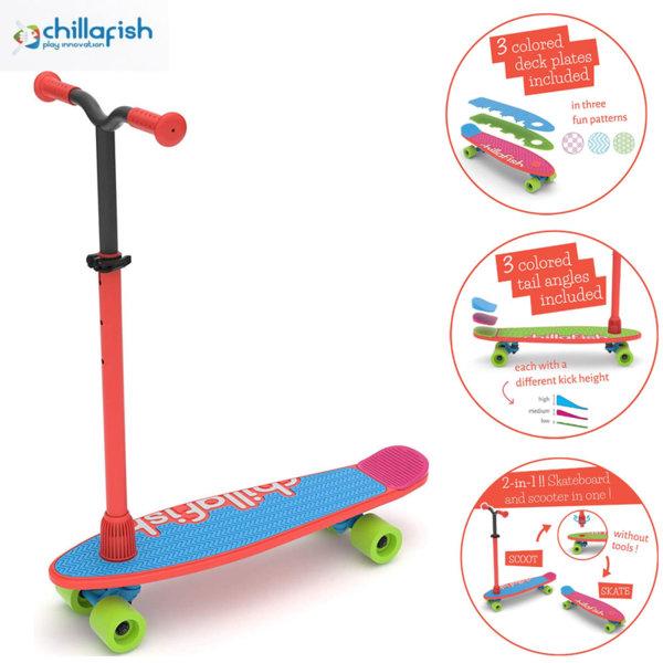 Chillafish Детска тротинетка скейт SkatieScootie 2в1 Redmix 22713