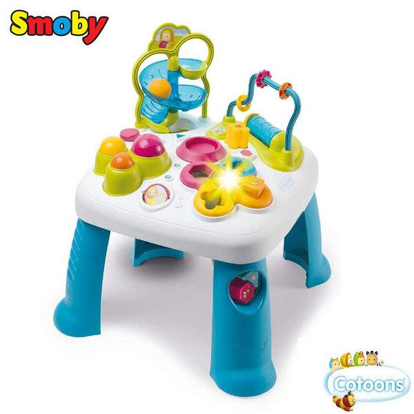 Smoby Занимателна музикална маса със светлини синя 110426