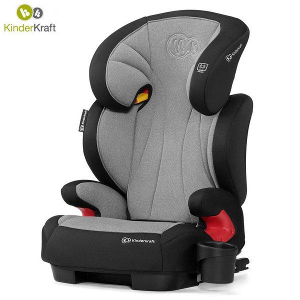 Kinderkraft Столче за кола Unity Isofix 15-36 кг сиво KKFUNITGRY0000