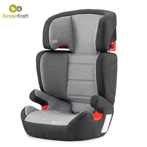Kinderkraft Столче за кола Junior Isofix 15-36 кг сиво KKFJUFIBLGR