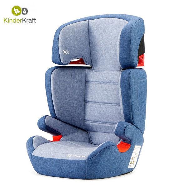 Kinderkraft Столче за кола Junior Isofix 15-36 кг син KKFJUFINAV
