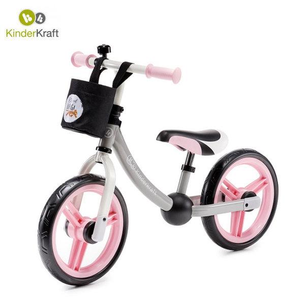 Kinderkraft Детско колело за балансиране 2Way next розово 22439