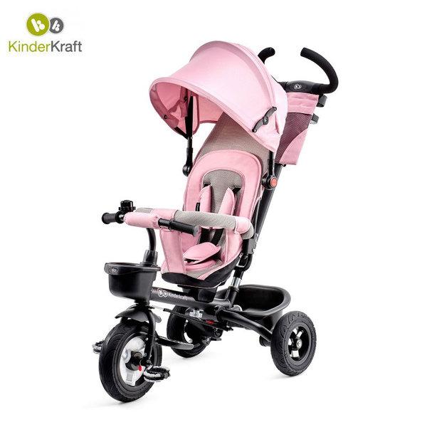 Kinderkraft Детска триколка с родителски контрол Aveo розова 22492