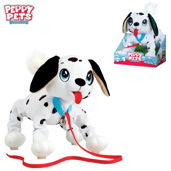 Peppy Pets Плюшено куче Далматинец за разходка навън 245284