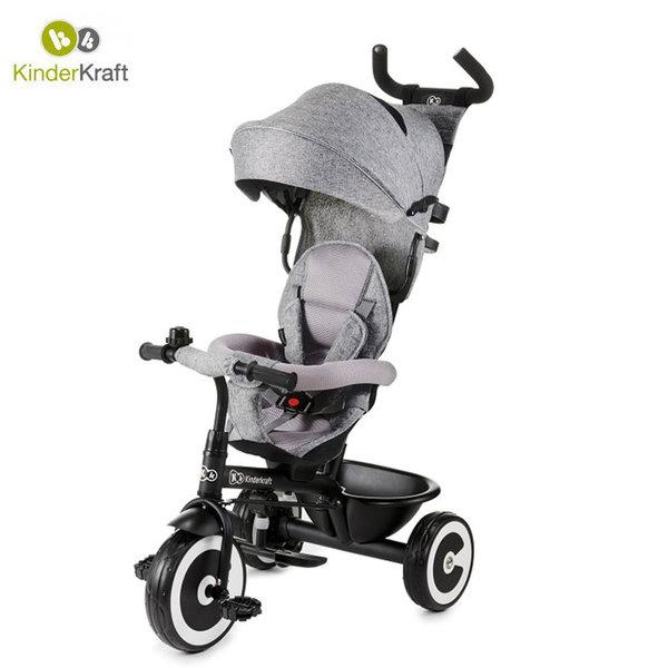 Kinderkraft Детска триколка с родителски контрол Aston сива 22433