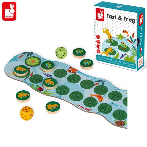 Janod Състезателна настолна игра Бързи жаби J02698