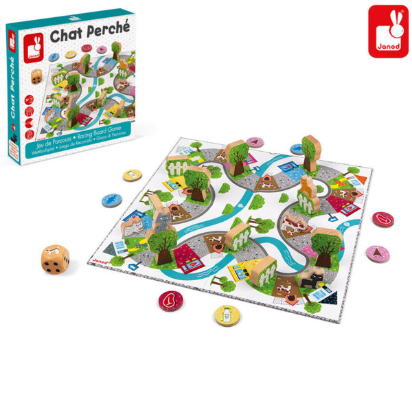 Janod Детска настолна игра Chat Perche J02750