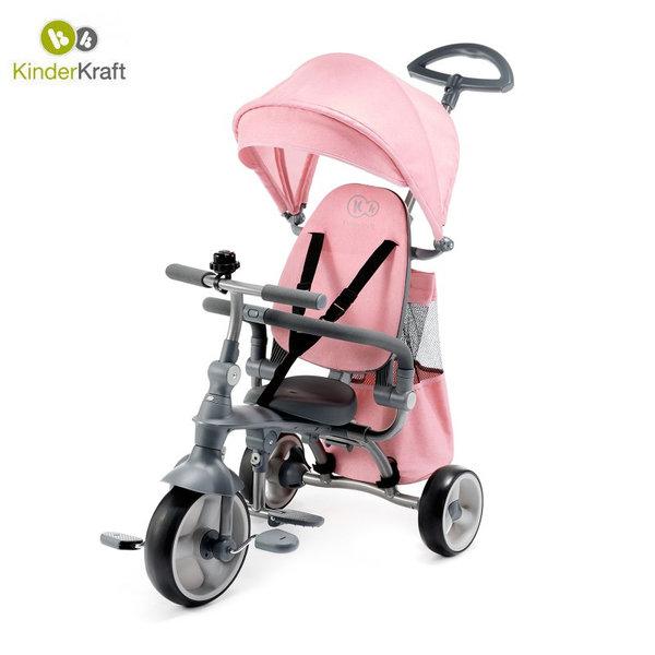 Kinderkraft Детска триколка с родителски контрол Jazz 4в1 розова 22437