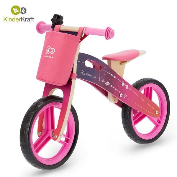 Kinderkraft Детско колело за балансиране Runner Galaxy розово 22547