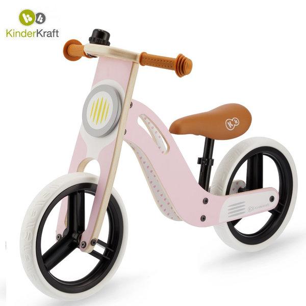 Kinderkraft Детско колело за балансиране Uniq розово 22549